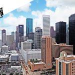 Panoramic view of Houston skyline