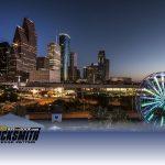 city skyline Downtown Houston TX