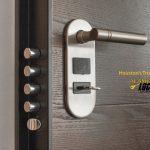 deadbolt locks with bars on door