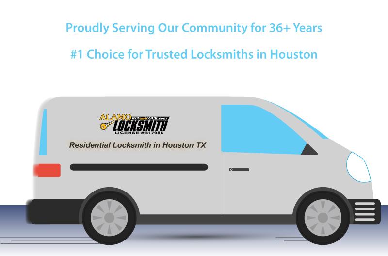 residential locksmith van illustration